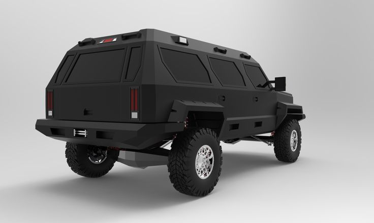 Personal armored vehicle  PAV  3D rendered concept model by mePersonal Armored Vehicles