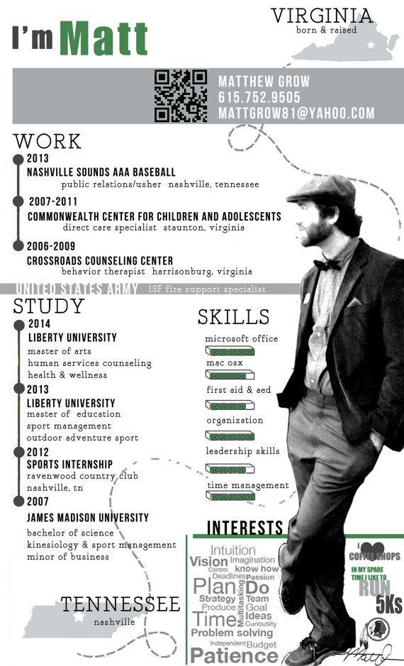 Infographic style resume