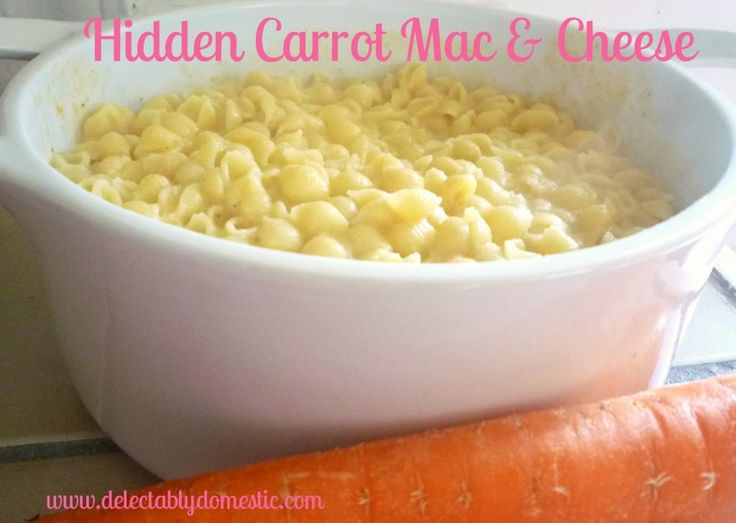 Hidden Carrot Mac and Cheese | Delectably DomesticDelectably Domestic