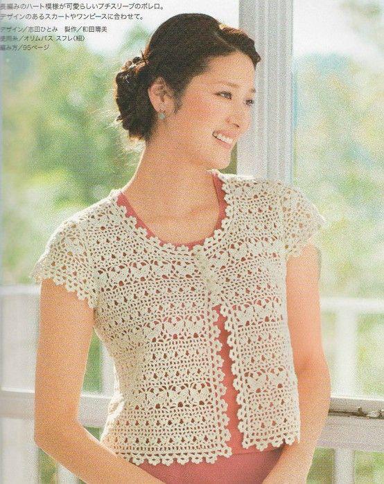 crochet charming lace bolero, crochet pattern make ...