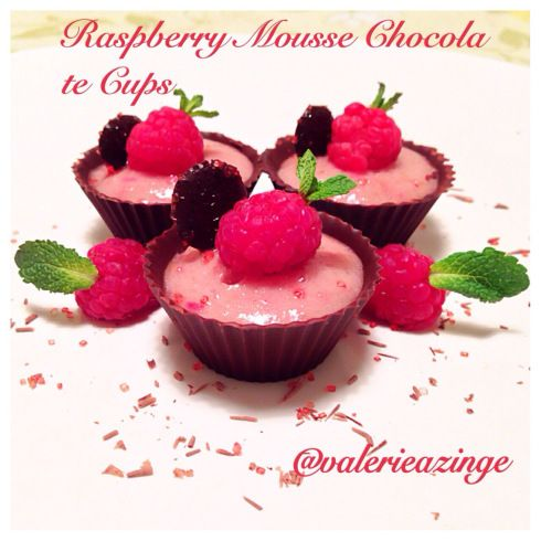 PALEO RASPBERRY MOUSSE CHOCOLATE CUPS | Clean Eating: Desserts | Pint ...