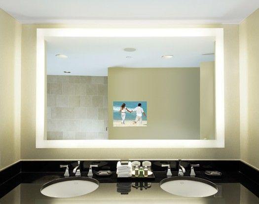bathroom mirror tv spaces