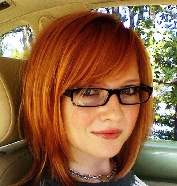 Hairstyles For Long Hair With Glasses : hairstyles bangs glasses picture ideas with easy hair extension styles ...