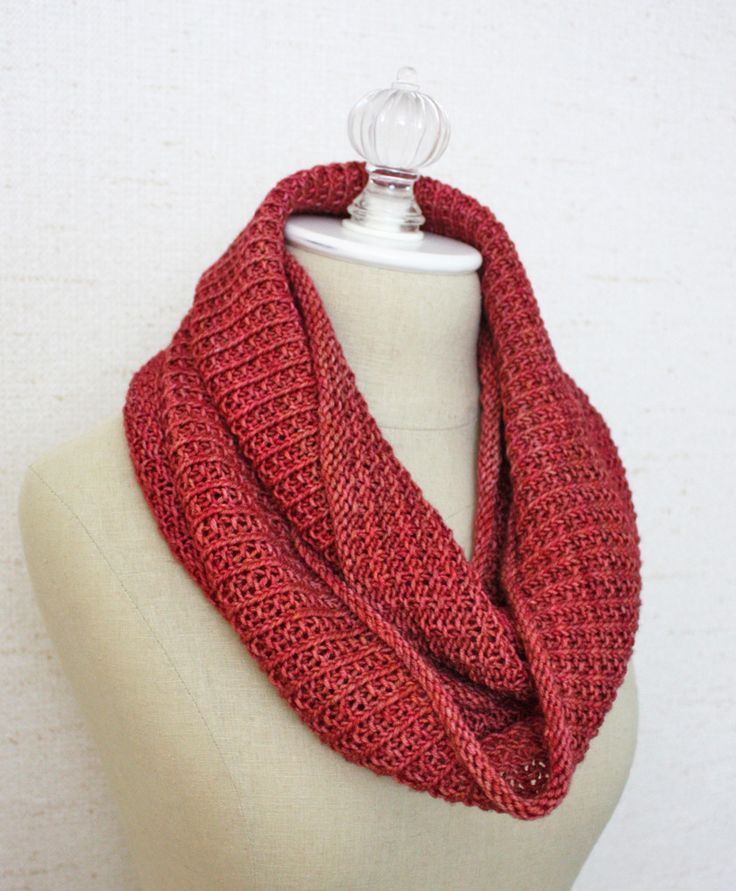 Pattern For Infinity Scarf To Knit : Belgique Infinity Scarf / Cowl Knitting Pattern