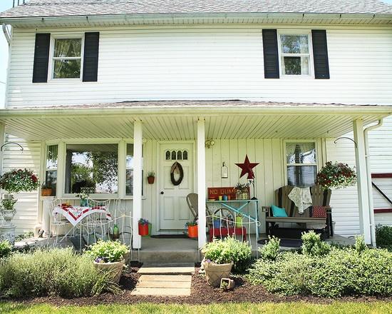2 Story White Farm House Dream House Pinterest