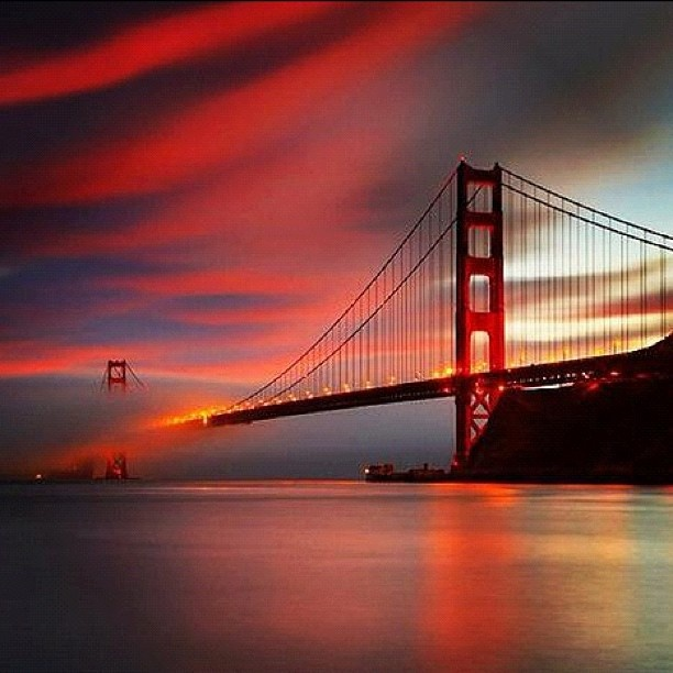 Golden Gate Bridge San Francisco California Sunset Picture: San Francisco Sunset