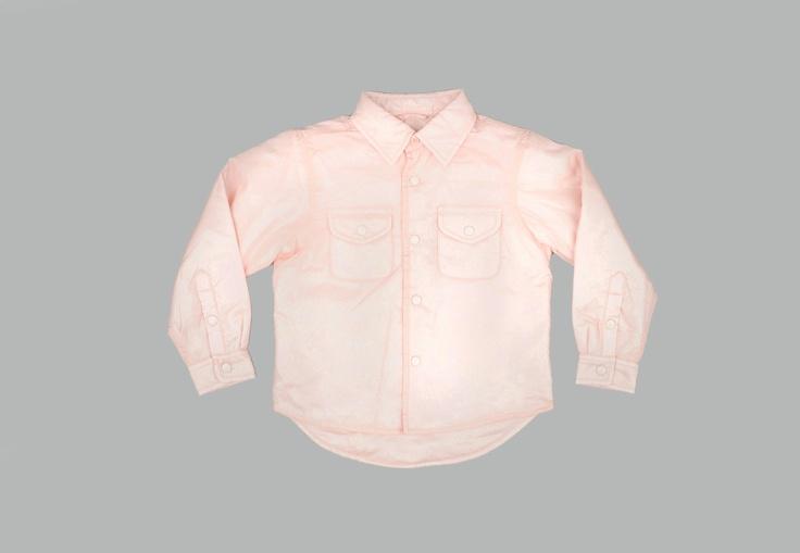 Light Pink Nylon Baby Shirt by ASPESI