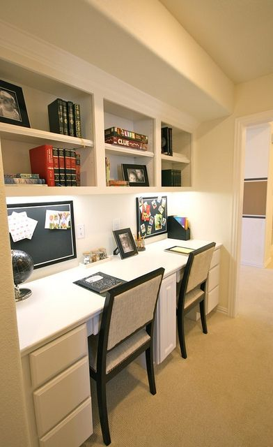 Cute desk area in the game room office and paperwork pinterest Shared home office design ideas