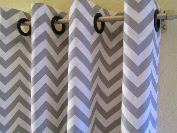 Turquoise And Gray Shower Curtain Grey and White Chevron Wall