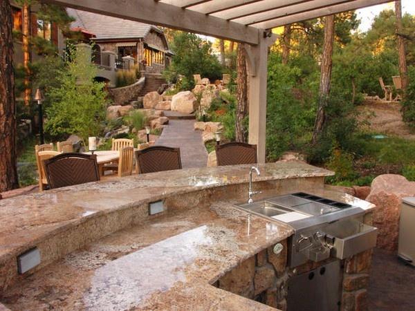Love outdoor kitchens my dream kitchen pinterest for Outdoor kitchen ideas pinterest