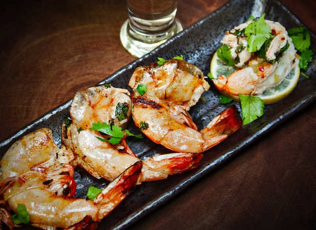 Grilled Tequila Lime Shrimp with Hatch Chile