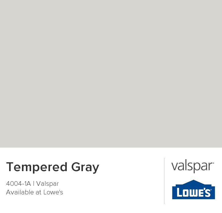 Tempered Gray From Valspar Home Pinterest