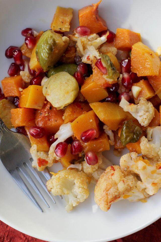 Cauliflower And Brussels Salad Recipe — Dishmaps