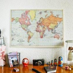 Carte du monde ancienne réedition
