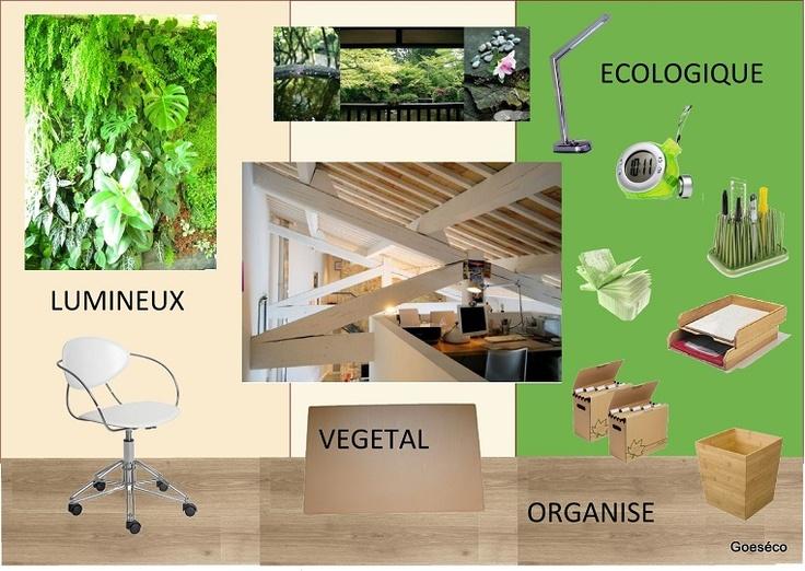 bureau cologique planches d 39 ambiance pinterest. Black Bedroom Furniture Sets. Home Design Ideas