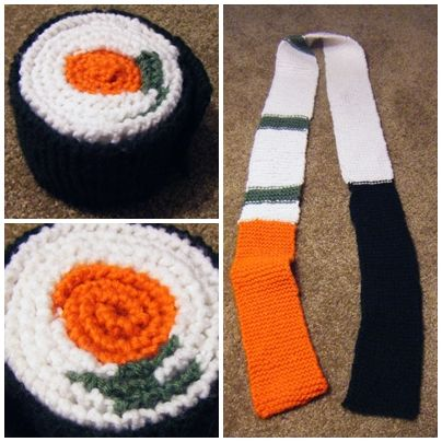 crochet sushi scarf on Etsy, a global handmade and vintage