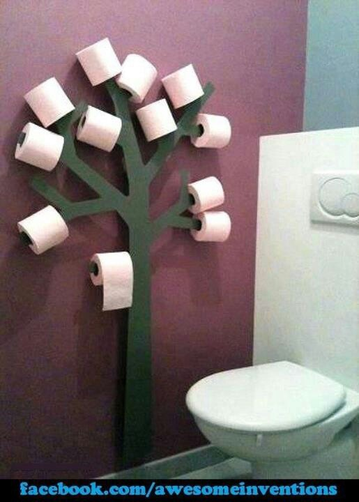 Creative toilet paper holder who knew pinterest Creative toilet paper holder