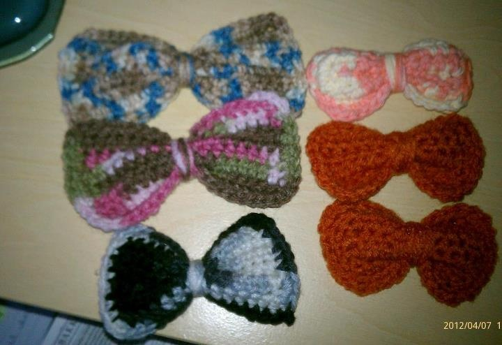Crochet Hair Bows : HAIR BOWS (CROCHET) Crochet/Knitting Pinterest