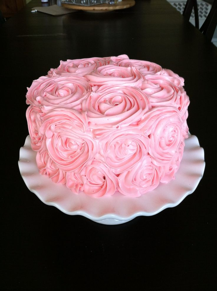 Pink Rosette Cake Images : Pin by Bethany Potter on Cakes Pinterest