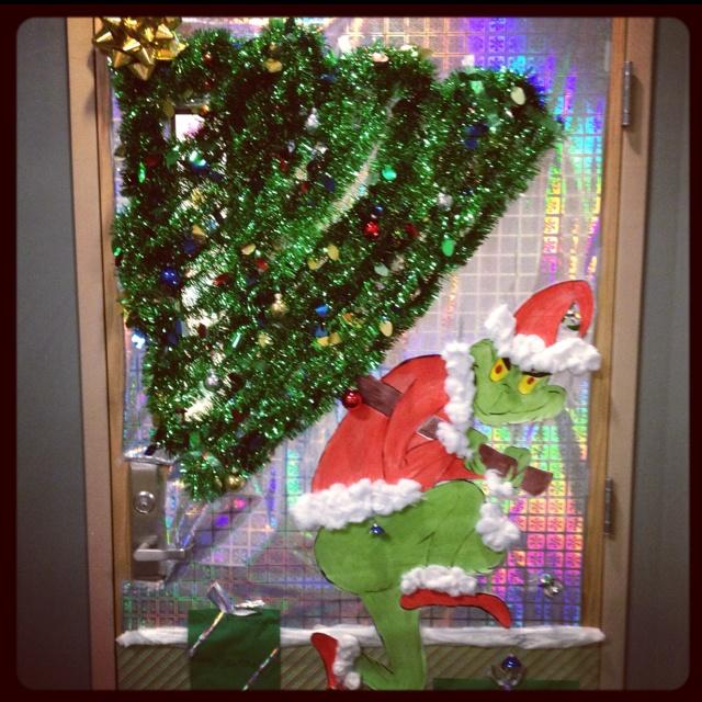 office door grinch office door decorations