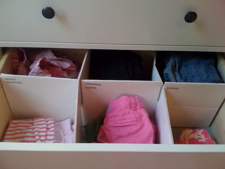Drawer dividers made from foam board | Kids Room | Pinterest
