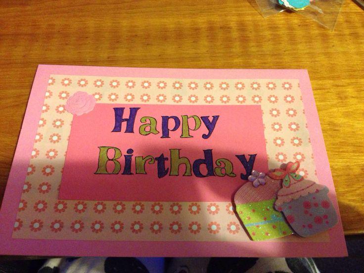 Handmade birthday card for a friend   Cards   Pinterest: pinterest.com/pin/314759461429369734