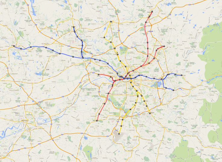 Manchester (UK) Proposed Subway System Map. (Unofficial ...