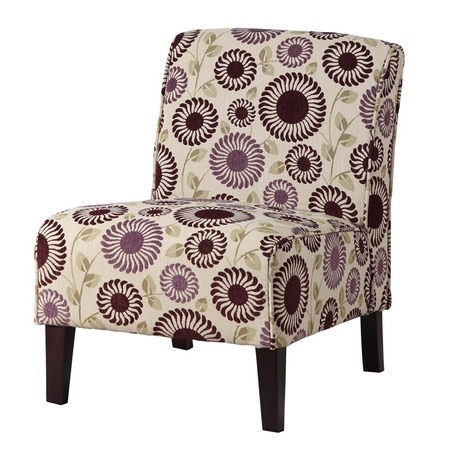 Lily accent chair in a fun purple print products i love pinterest