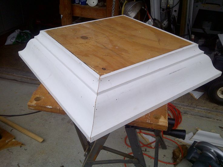 wedding cake stand before the last coat of white we needed a 14