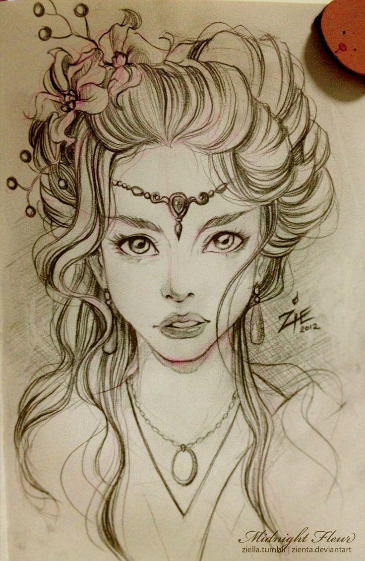 Hair art drawing
