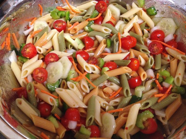 easy pasta salad recipe foods pinterest
