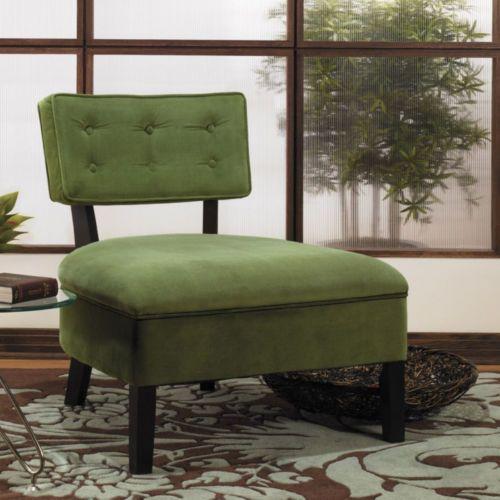 Accent slipper chair bedroom living room den hallway door lounge sofa