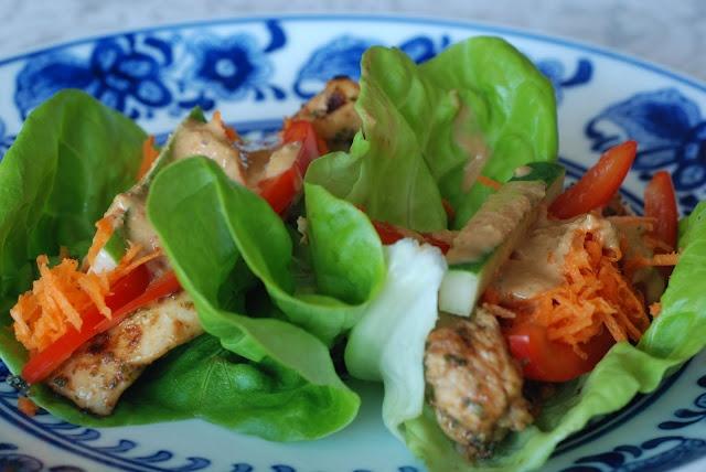 thai chicken lettuce wraps | food porn | Pinterest