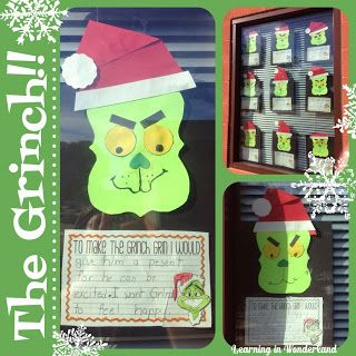 Grinch Craft and Writing | Literacy Connection | Pinterest