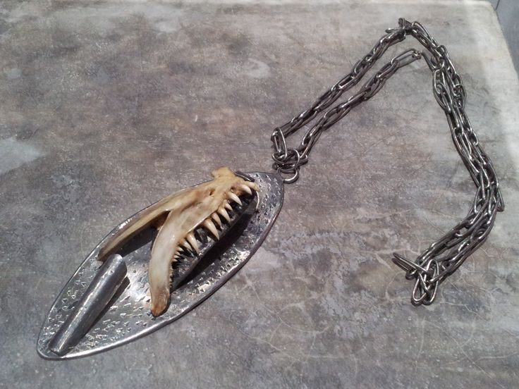 Reny Golcman (Brazil) Jaw Necklace, 1973 Necklace Silver, barracuda bones