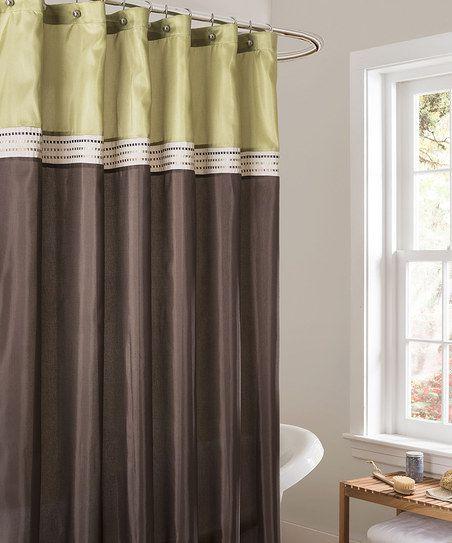 Green & Brown Terra Shower Curtain