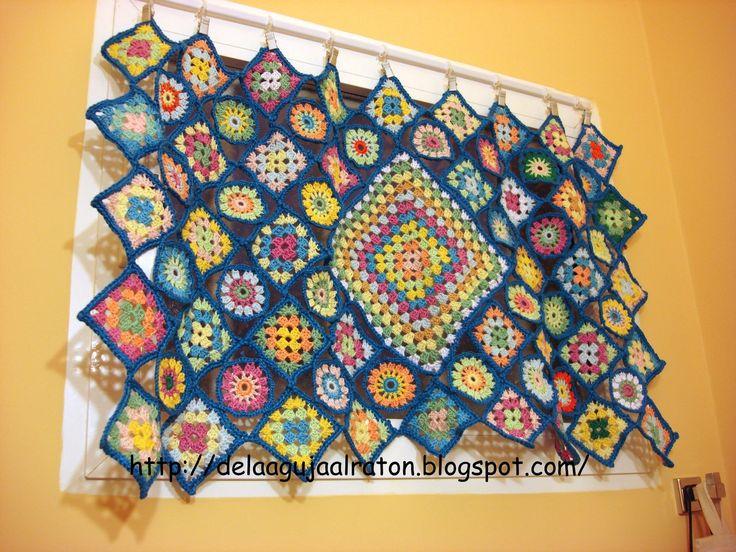 Cortinas De Baño A Crochet:Cortina Para El Bano
