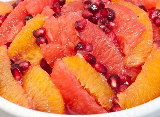 winter citrus + pomegranate fruit salad