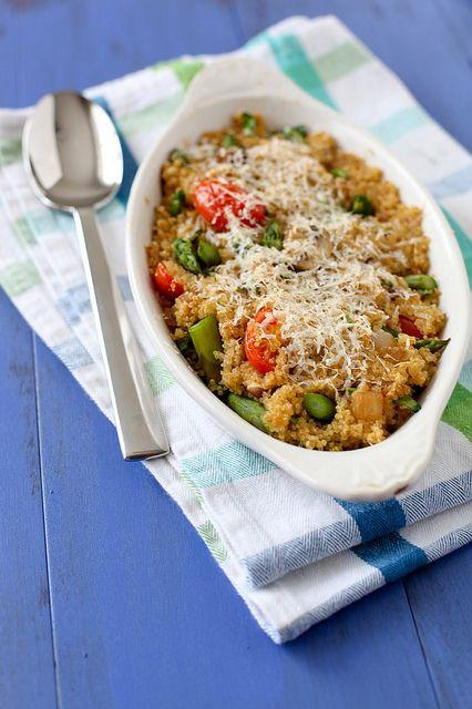 spring veggie quinoa - annies eats
