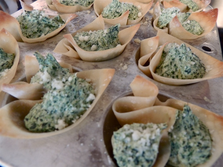 Spinach Artichoke Wonton Cups | Successful Recipes | Pinterest