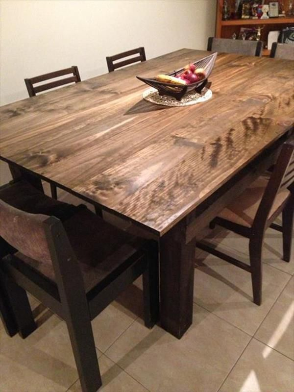 Pallet Wood Dining Table Idea Pallets Recycling Pinterest