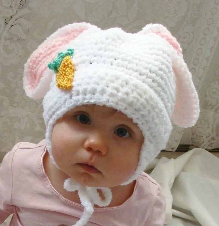 Crochet Pattern Bunny Hat : Fluffy Bunny Hat PDF Crochet Pattern for Infants to Adults ...