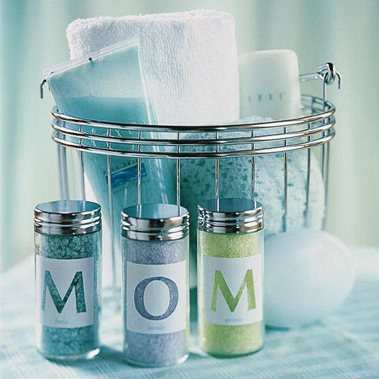 DIY ::: Mother's Day Gift Ideas ::: Invite Mom to relax in the luxury of bath salts chosen just for her.