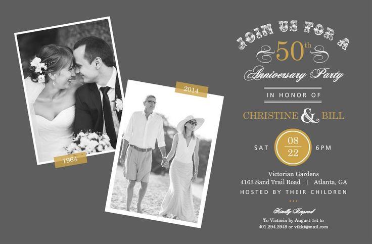 Invitations For 50Th Wedding Anniversary for luxury invitations ideas