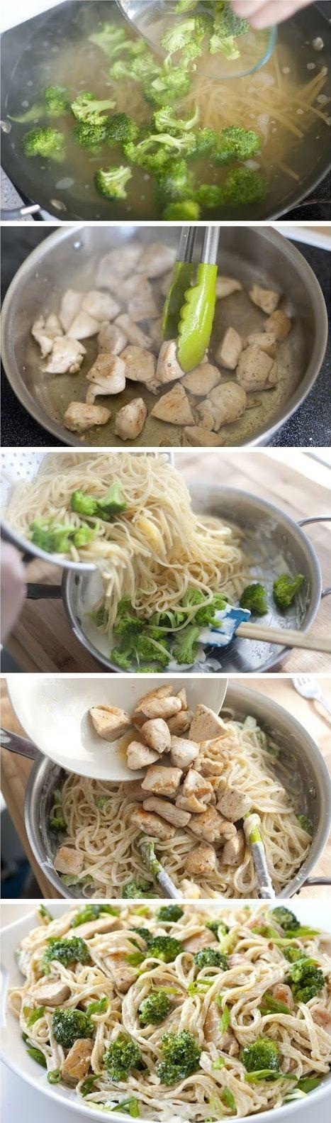 Creamy Miso Chicken Pasta | Deliciously Dinner | Pinterest