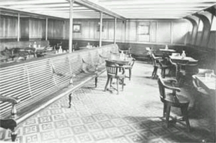 Third Class Smoking Room Titanic Pinterest