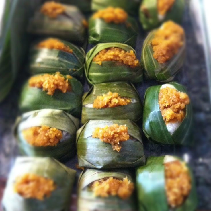 Coconut Sticky Rice In Banana Leaves (Pulut Inti) Recipe — Dishmaps
