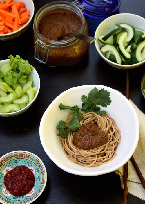 chinese noodles with peanut sauce | Chinese Food | Pinterest