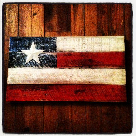 Rustic pallet wood american flag wall art American flag wood wall art