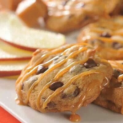 Caramel Apple Chocolate Chip Cookies | BAKING | Pinterest